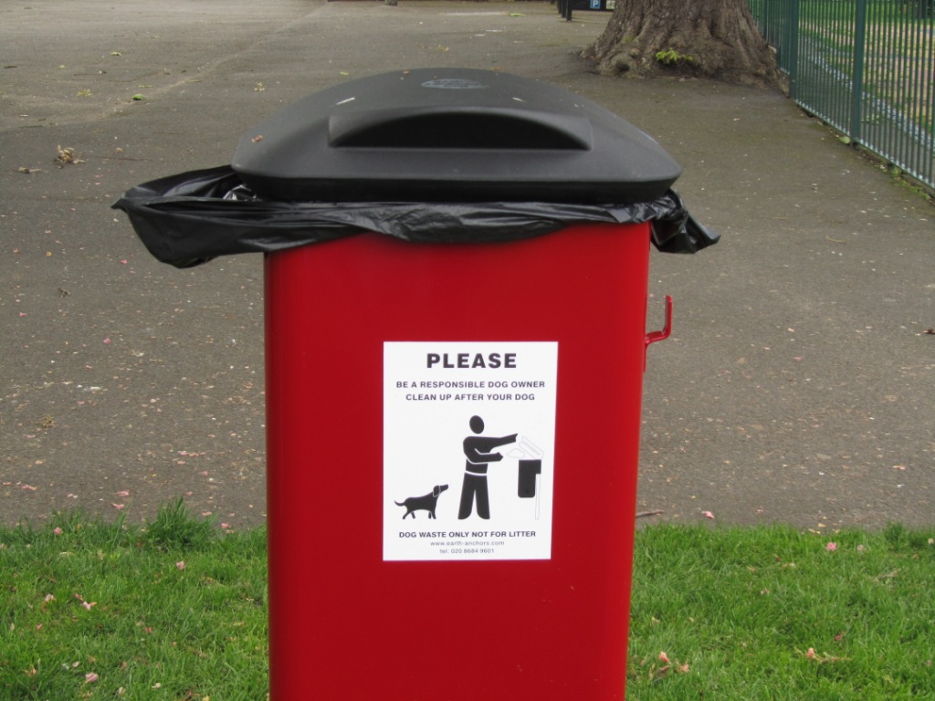 The Grove Park Carshalton New Dog Waste Bins