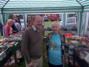 Local booksellers: Cllr. Alan Salter and Jill Whitehead
