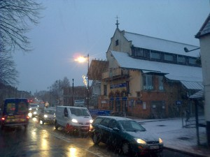 Christmas Lights and Snow in Carshalton Village in times past