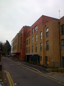 Carter House flats as viewed from the north in Shorts Road