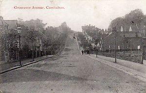 Grosvenor Avenue Carshalton in quieter times...