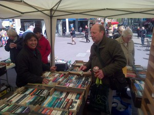 Cllr. Alan Salter on the FOCUS bookstall