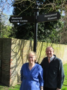 Jill and Alan by the New Finger Post sign