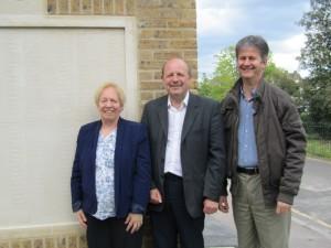 Councillors Jill Whitehead, Alan Salter and Hamish Pollock