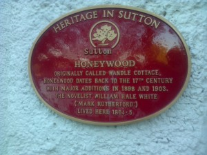 The Refurbished Honeywood Museum Plaque