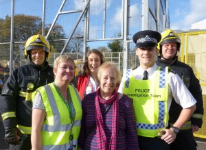 Cllr. Jill Whitehead and others at the emergency training event
