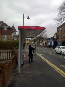 The New Bus Shelter in North Street