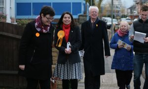 Jill Whitehead out with Lib Dem candidate Sarah Olney in the Richmond Park by-election